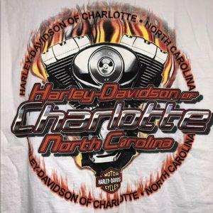 Harley Davidson Pocket White T-shirt Size 2X